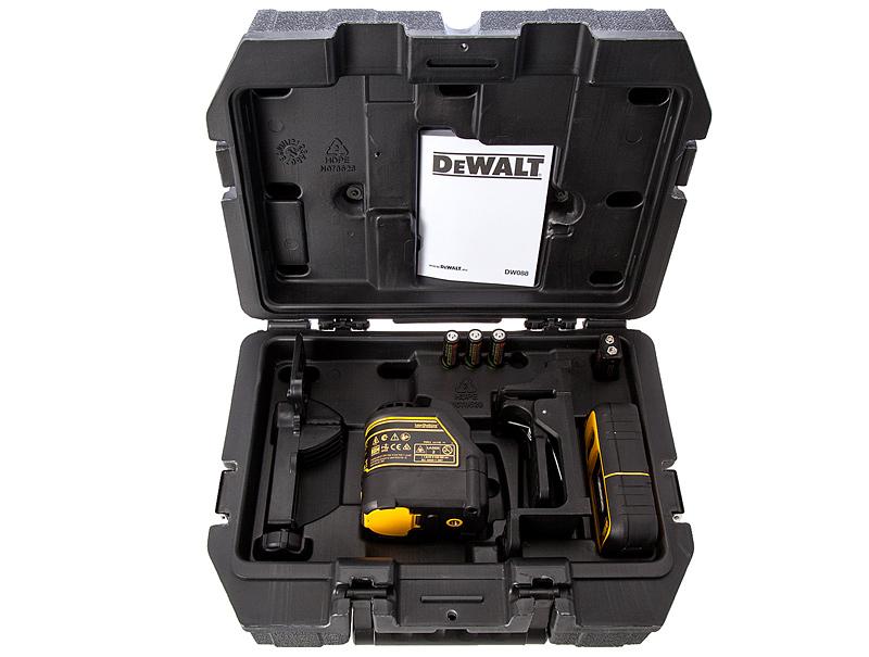 Лазер самовыравнивающийся 2-х плоскостной DeWALT DW088KD